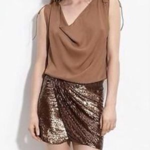 Haute Hippie Bronze Sequin Skirt